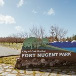 Fort Nugent Park Sign, Park, Oak Harbor, Whidbey Island